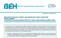 BEH Hors série – Vaccination des jeunes enfants : des données pour mieux comprendre l'action publique Octobre 2017