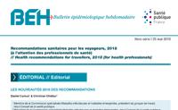 BEH Recommandations sanitaires pour les voyageurs. 2018