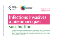 Infections invasives à pneumocoque : vaccination -Repères pour votre pratique. Mise à jour 2017.